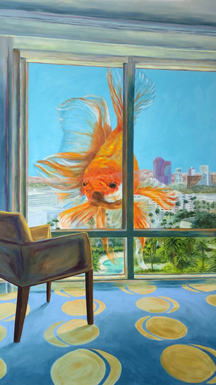 Acosta, Elise - Cabin Fever - Oil on Canvas - 60 Inches x 40 Inches - $2,400.jpg