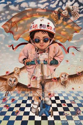 Sharon Sayegh - The FlyingMachine - Oil