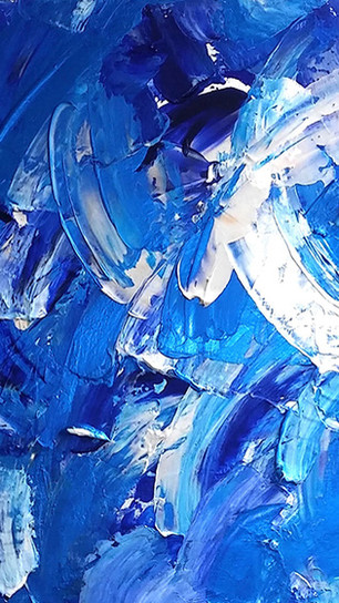 Gervers, Janet - Blue Splash - Acrylic on Canvas - 20 Inches x 30 Inches - $1,000.jpg