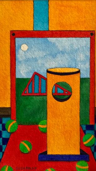 Sugarman, Jennifer - Game of Chance III - Watercolor - 6 Inches x 4 Inches - $575.jpg