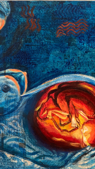 Sinha, Bhaswati - Safest Place - Mixed Media Oil - 24 Inches x 30 Inches - $720.jpg
