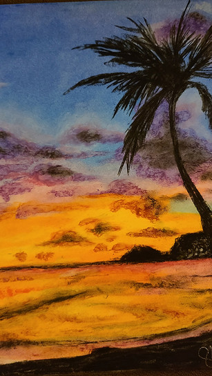 Kailiuli, Summer L - Hope and Sunsets - Oil Pastel - 12 Inches x 16 Inches - NFS.jpg