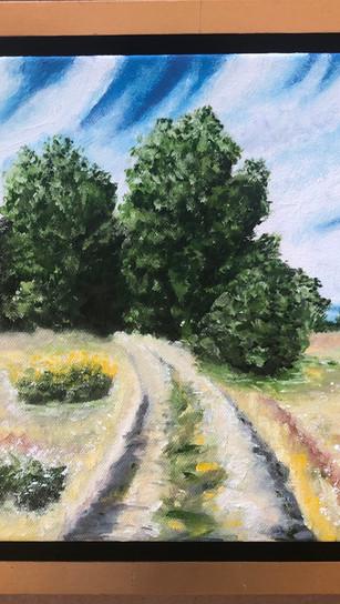 Kazanova, Alina -Blackberry Trail - Oil on Canvas - 10 Inches x 10 Inches - $329.jpg