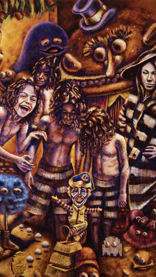 Bridger, Marc - Metaverse_ The Catastrophe of Nostalgia - Oil on Canvas - 72 Inches x 60 I
