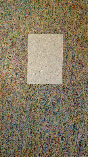 Alimayu, Langston - Perpetually Peacocking - Acrylic on Canvas - 72 Inches x 48 Inches - N