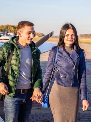 Незабываемое свидание в небе на самолете