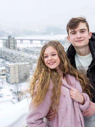 Романтика 14 февраля на крыше в Киеве