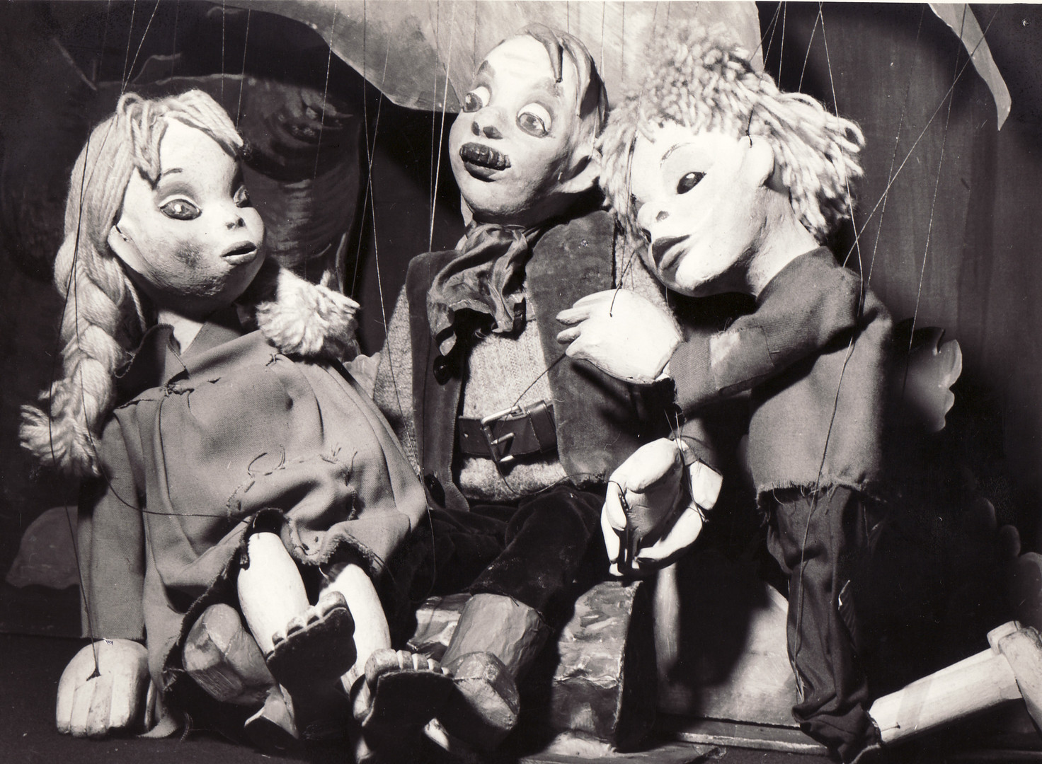 Hansel & Gretel & Woodcutter Marionettes