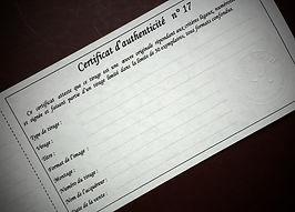 certificat d'authenticité blackandwhitekorner