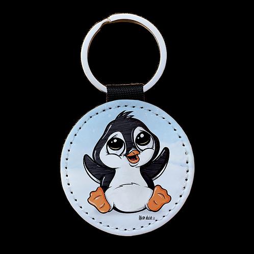 Pinguin - Kunstleder Schlüsselanhänger