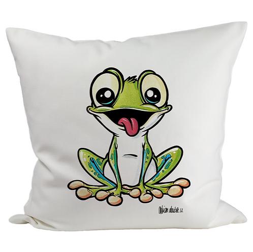 Frosch - Kissenbezug (Flauschig)