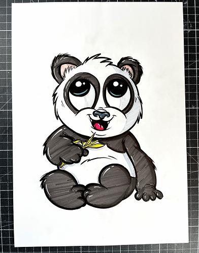 PANDA - Original Zeichnung - adrian.double.u