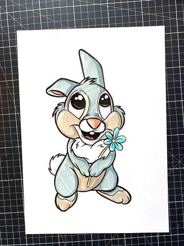 BABY KLOPFER - Original Zeichnung - adrian.double.u