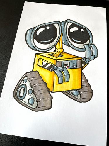 Baby Wall-e - Original Zeichnung - adrian.double.u