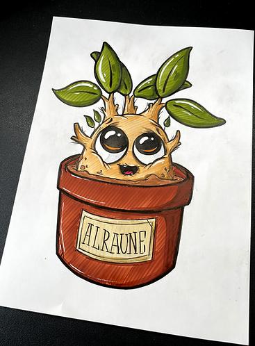 Baby Alraune - Original Zeichnung - adrian.double.u