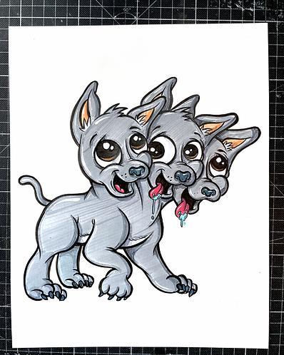Fluffy  - Original Zeichnung - adrian.double.u