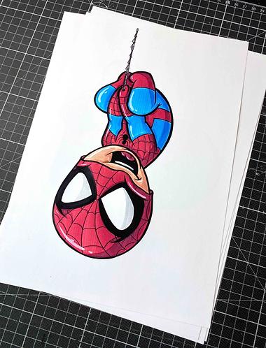 BABY SPIDER-MAN - Print - adrian.double.u