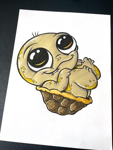 Baby Schildkröte - Original Zeichnung - adrian.double.u