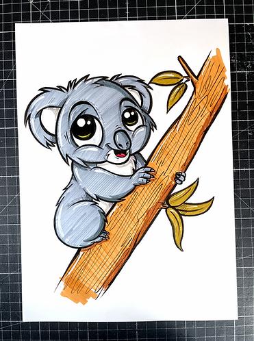 BABY kOALA - Original Zeichnung - adrian.double.u