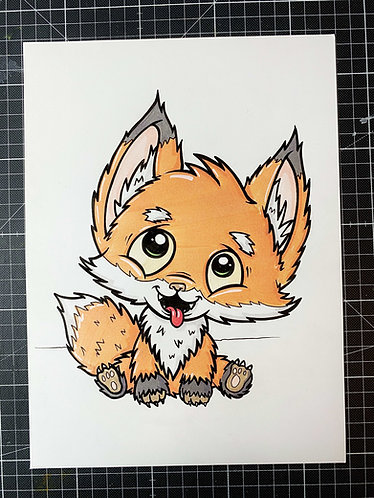 Fuchs - Original Zeichnung - adrian.double.u