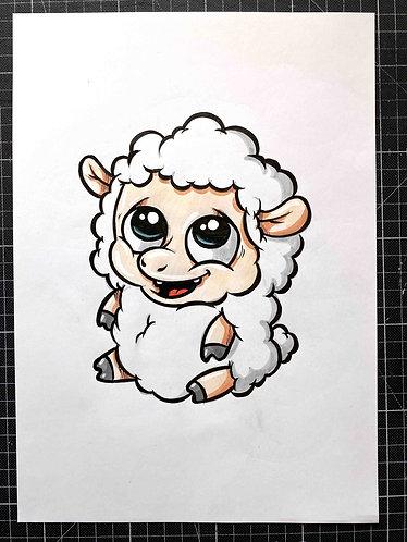 SCHAF - Original Zeichnung - adrian.double.u