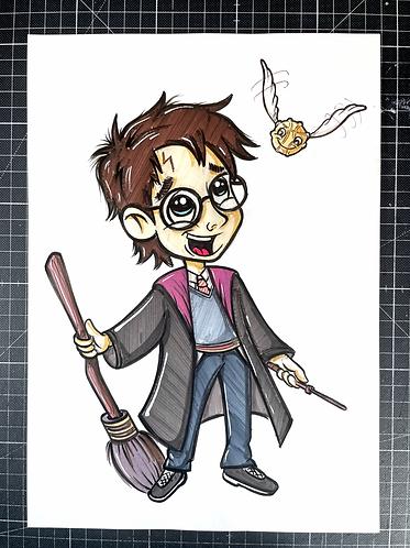 HARRY - Original Zeichnung - adrian.double.u