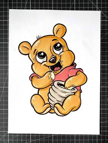 BABY WINNIE - Original Zeichnung - adrian.double.u