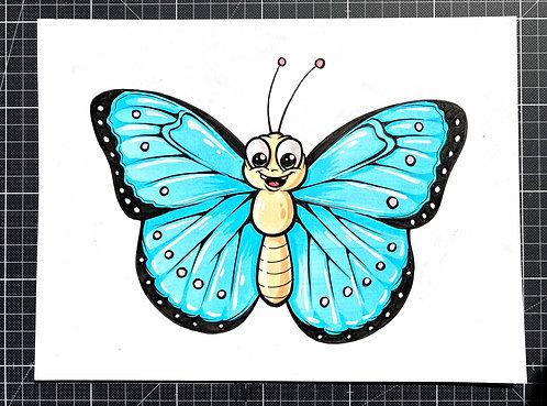 Schmetterling - Original Zeichnung - adrian.double.u