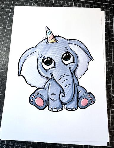 Elefantenhorn - Print - adrian.double.u
