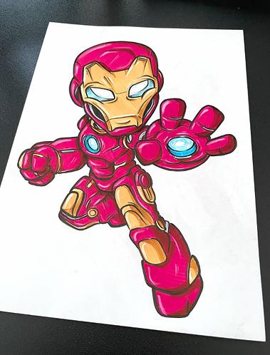 Young Iron Man - Original Zeichnung - adrian.double.u