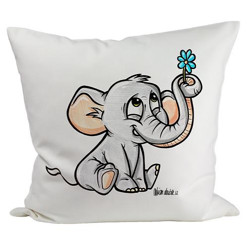 Elefant - Kissenbezug (Flauschig)