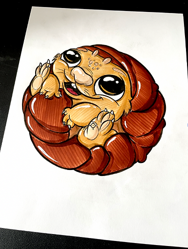 Baby Tuk Tut - Original Zeichnung - adrian.double.u