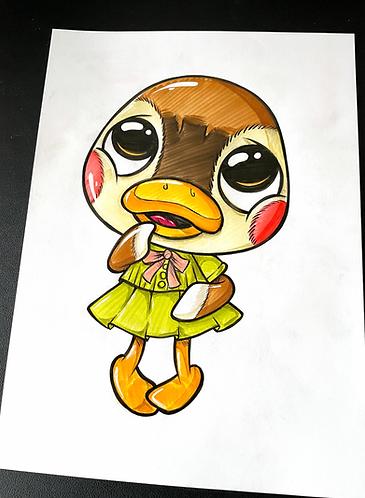 Monika AC - Original Zeichnung - adrian.double.u