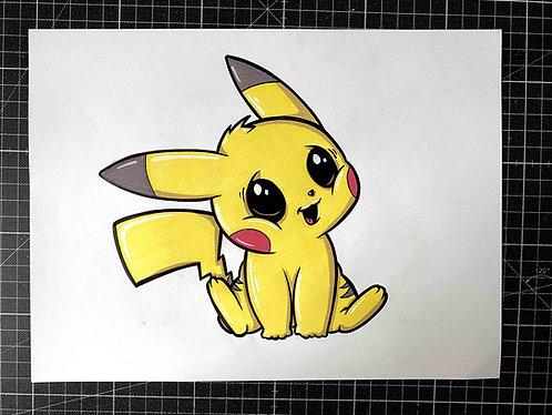 BABY PIKACHU - Original Zeichnung - adrian.double.u