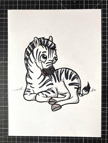 ZEBRA - Original Zeichnung - adrian.double.u