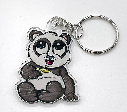 Panda  - Acryl Schlüsselanhänger