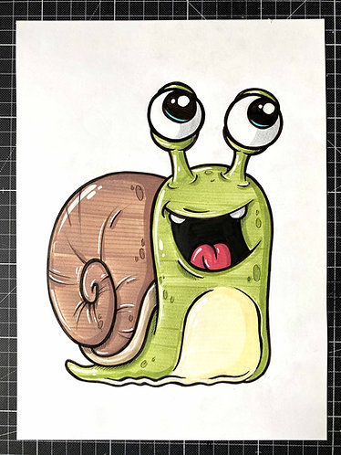 SCHNECKE - Original Zeichnung - adrian.double.u