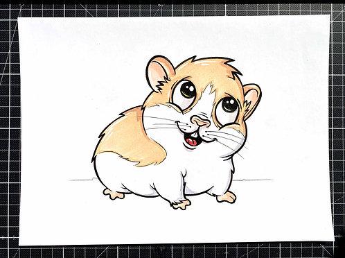 Hamster - Original Zeichnung - adrian.double.u