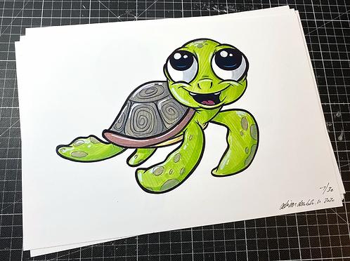Baby Schildkröte - Print - adrian.double.u