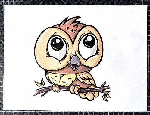 EULE - Original Zeichnung - adrian.double.u