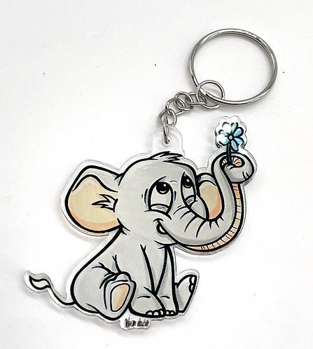 Elefant - Acryl Schlüsselanhänger