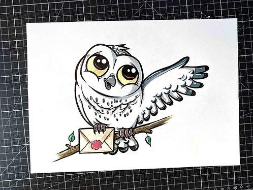 HEDWIG - Original Zeichnung - adrian.double.u