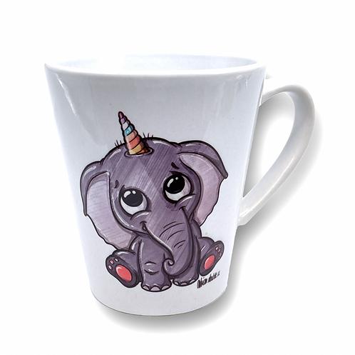 Elefantenhorn - Keramiktasse