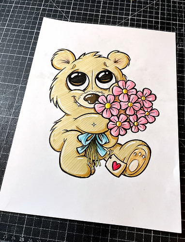 Teddy  - Original Zeichnung - adrian.double.u