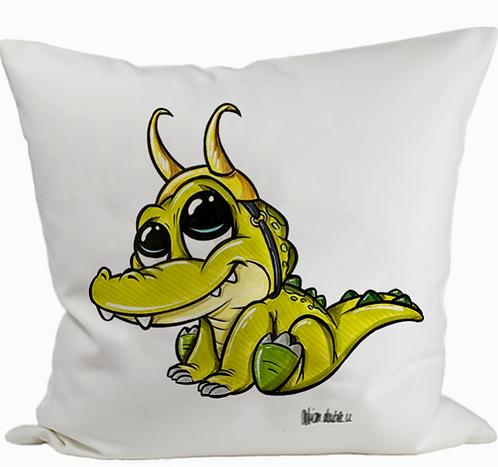 Baby Alligator Loki - Kissenbezug (Flauschig)