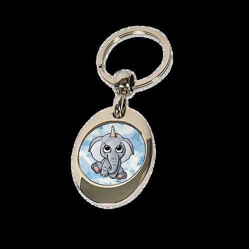 Elefantenhorn - Einkaufswagenchip Anhänger