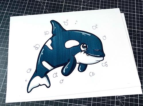Schwertwal (Orca) - Print - adrian.double.u