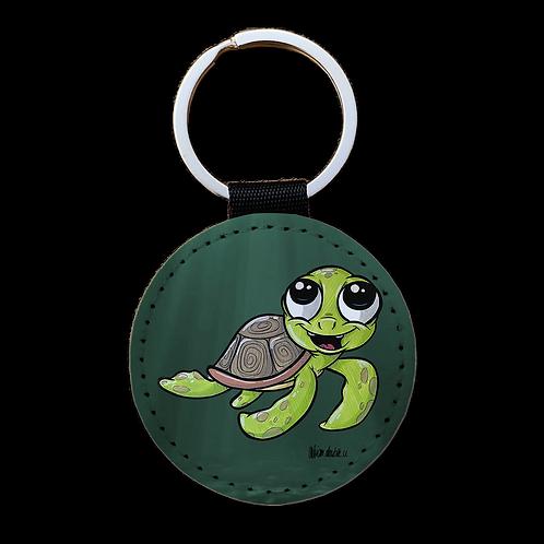 Schildkröte - Kunstleder Schlüsselanhänger