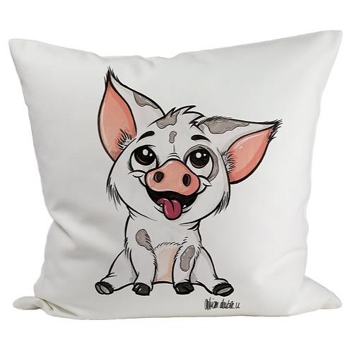 kleines Schweinchen - Kissenbezug (Flauschig)