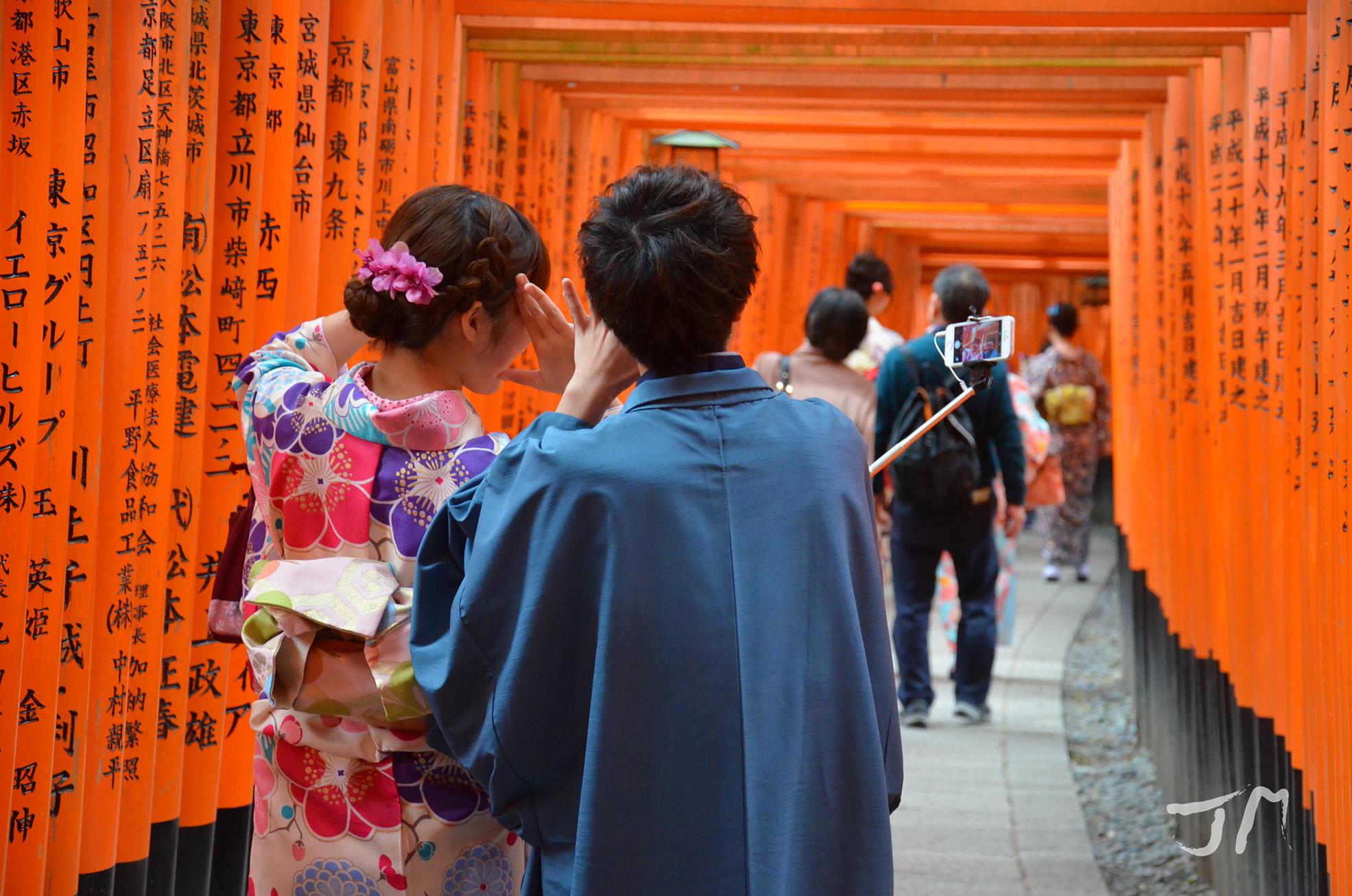 selfie sous les torii_2016